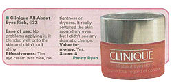 Clinique Eyes Rich tested by Penny Ryan, Irish Examiner